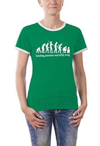Touchlines Damen Something, Somewhere... Girlie Ringer T-Shirt, kelly green, M, B9199-Kelly Green-M, (Kelly Green Ringer)