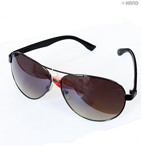 HAND® irm100Modische Damen Aviator Pilot Metall irisierend Spiegel Objektiv Sonnenbrille UV400-Pack von 2