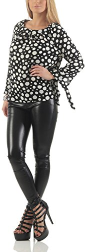 Malito Damen Bluse in Vielen Farben und Formen | Oberteile mit Verschiedenen Mustern �?Shirts 7213 Muster 1
