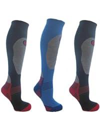 3 Pairs Boy's High Performance Ski Socks Various Size 12-3