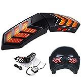 Motorrad helm licht, doppel blink warnlicht, bremslicht blinker anzeige drahtlose led licht