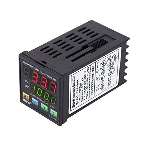 Demino MyPin TA4-RNR Digital LED PID-Temperaturregler Thermometer Hitzeabkühlen Steuer RNR 1 Alarmrelaisausgang TC/RTD Thermostat