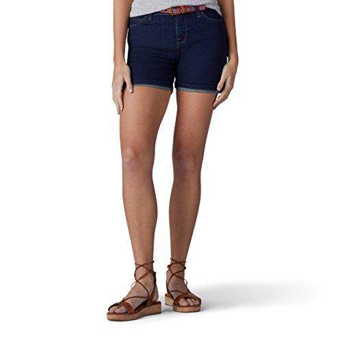 Lee Belted Shorts (Lee Damen Modern Series Midrise Fit Cora Belted Short Jeansshorts, Knockout, 42)