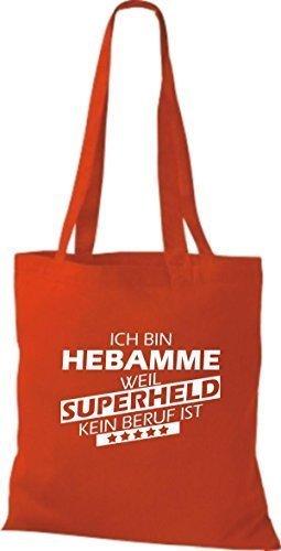 Tote Bag Shirtstown Sono Unostetrica Perché Il Supereroe Non È Una Professione Rossa
