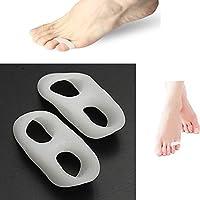 Silikon-Zehenspreizer, 2 Löcher, kleine Zehentrenner, Vorbeugung von Schmerzen und Entspannung der Füße, Ballenschutz... preisvergleich bei billige-tabletten.eu