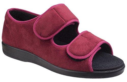 d6c8b9f7495 Gbs Med Brompton Womens Slip On Slippers Burgundy - Burgundy - UK Size 4
