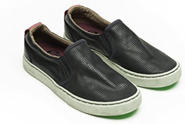 Satorisan 151009 Black - Zapatillas para deportes de exterior de Piel para hombre blanco 36