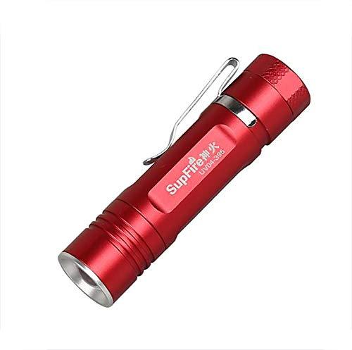 J.Horizon Professionelle UV Handlampe Test Fluoreszenz Einstellbarer Fokus Wasserdichte LED UV Taschenlampe Mehrzweck 395Nm