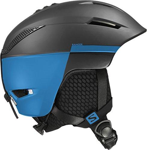 Salomon, Unisex Allround-Ski- und Snowboardhelm, EPS 4D, Gr. L, Kopfumfang 59-62cm, Ranger, Schwarz/Blau, L39125200
