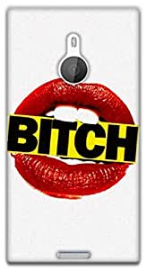 The Racoon Grip bitch lips hard plastic printed back case / cover for Nokia Lumia 1520