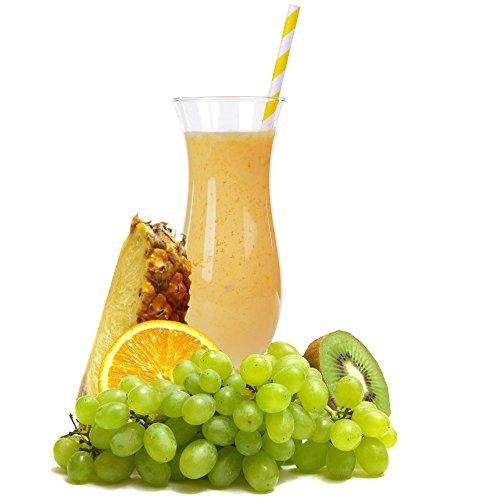 Multivitamin Geschmack Eiweißpulver Milch Proteinpulver Whey Protein Eiweiß L-Carnitin angereichert Eiweißkonzentrat für Proteinshakes Eiweißshakes Aspartamfrei (200 g)