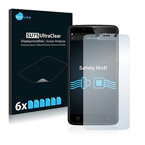 Savvies Schutzfolie kompatibel mit Ulefone Vienna (6 Stück) - ultraklare Bildschirmschutz-Folie