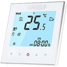 Anself - 16A 110 ~ 240V Termostato Programable de Calefacción Eléctrico WIFI Inteligente, LCD Pantalla Táctil, Ahorro de Energía
