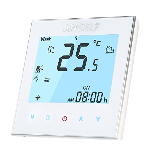 Anself WIFI Raumthermostat mit LCD Touchscreen