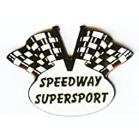 Speedway Anstecknadel Speedway Langbahn Grasbahn Motiv Flagge