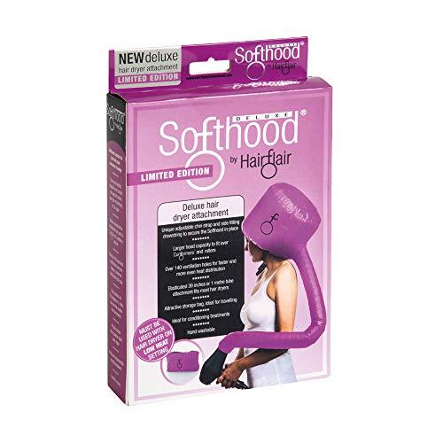 Scopri offerta per Hair Flair Softhood - cuffia gonfiabile per asciugacapelli - rosa