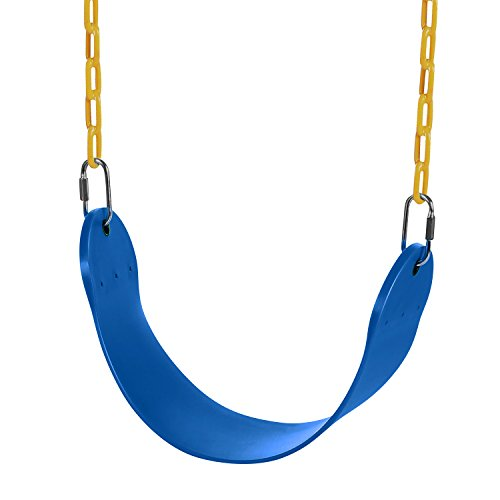 (Profun Kinderschaukel elastischer EVA Schaukelsitz ab 3 Jahren Stahlkette mit weicher Sitzfläche Kunststoff Schaukel Outdoor Kinderspielzeug (blau))