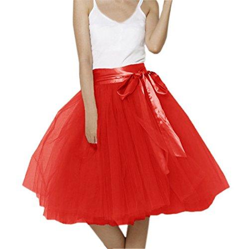 Kostüm Rocker Barbie (Honeystore Damen's Rock Tutu Polyester Damenrock Tütü Cosplay Kurz Tanzkleid Party Minirock Pettiskirt Tüllrock Unterrock Sommer Falten Rock 3XL)