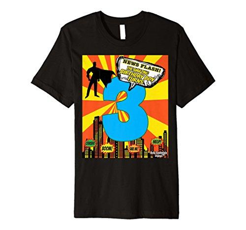 Superheld Geburtstag Shirts für Jungen Gr. 3drei Kleinkinder