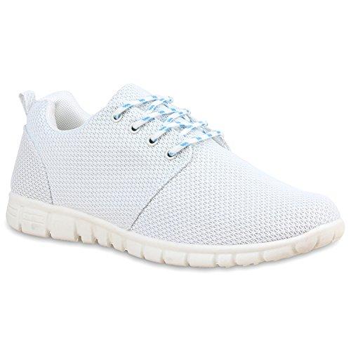 Herren Sportschuhe Muster   Laufschuhe Übergrößen   Sneakers Profilsohle   Blumen Runners Weiß