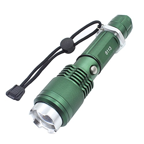 Genwiss 3000 Lumen CREE XM-L L2 LED wiederaufladbare Taschenlampe Super Bright Fackel 5 Modus-hoch, mittel, niedrig, Röhrenblitz, PAS, Aluminiumlegierung einstellbarer Fokus Zoom Licht Lampe
