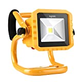 LED Work Light Aglaia 10W Portable Floodlight 800LM Rechargeable 3 Modes Flood Lamp with IP65 Waterproof for Emergency, Repairing, Outdoors