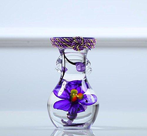 Llpxcc fiori artificiali creative home floreale tavolo da pranzo soggiorno moderno e semplice in stile europeo decorativi fiori vasi in vetro vino cabinet natale tromba viola