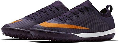 Nike Herren MercurialX Finale II TF Fußballschuhe, Violett (Lila Dynastie/Gummi-Hellbraun/Schwarz/Leuchtendes Zitrus), 42.5 EU