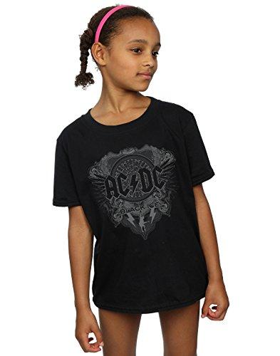 AC/DC niñas Black Ice Camiseta 12-13 years Negro