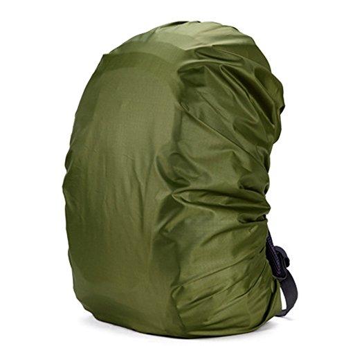 Cuckoo 35L Nylon Wasserdichte Rucksack Regenabdeckung Rucksack Wasser Resist Abdeckung Leichte Packung zum Wandern Camping Reisen Outdoor Aktivitäten, dunkelgrün (Nylon-drawstring-rucksack)