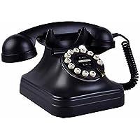 QIAN Teléfono retro europeo antiguo del hogar fijo Cable fijo