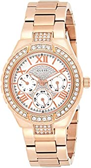 Guess Womens Quartz Watch, Analog Display and Stainless Steel Strap W0111L3
