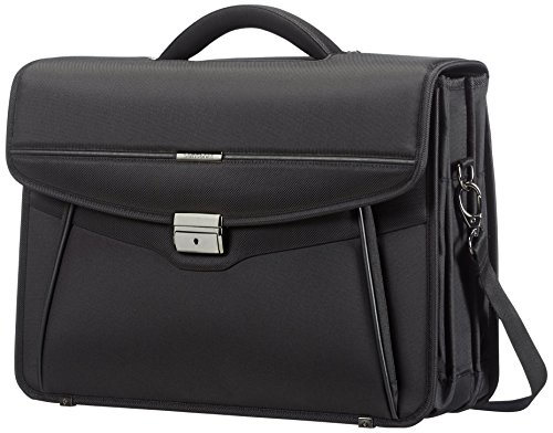 Samsonite Desklite briefcase, 42 cm, 15 L, Black