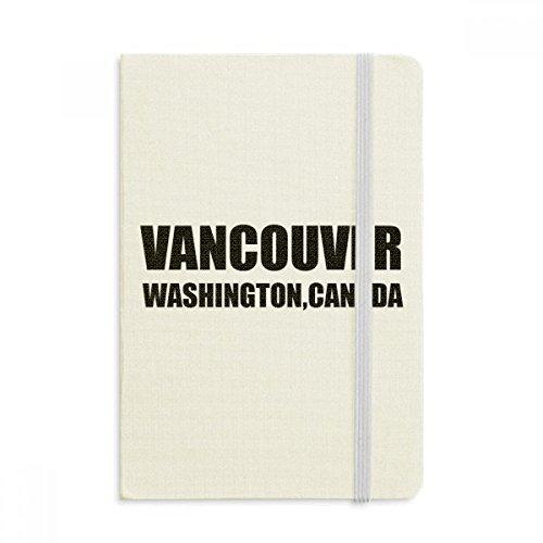 DIYthinker Vancouver Washington Kanada Stadt Land Notebook Stoff Hard Cover Klassisches Journal Tagebuch A5 A5 (144 X 210mm) Mehrfarbig