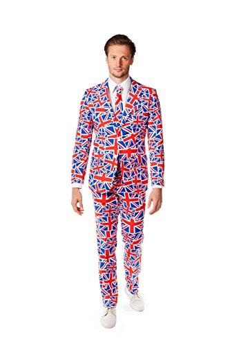 Opposuits OSUI-0007-EU48 - Mr. Jack - Großbritannien Union Kostüm, Größe 48, mehrfarbig