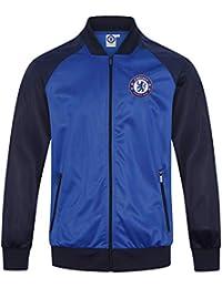 19afecfaeec Chelsea FC Official Football Gift Mens Retro Track Top Jacket Navy Blue