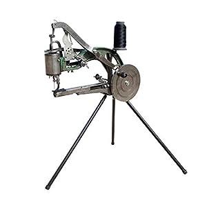 HUKOER Máquina de mano Zapatero zapatero Máquina de reparación de bricolaje Máquina de coser línea de nylon de algodón doble Herramientas hecho a mano Zapatos hecho a mano, Impermeables, Cuero de HUKOER