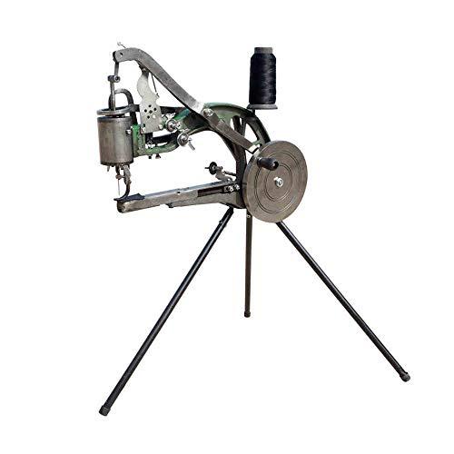 HUKOER Máquina de reparación de zapatos Máquina de coser Herramientas para zapateros con agujas,bobinas de nylon y soporte tipo trípode