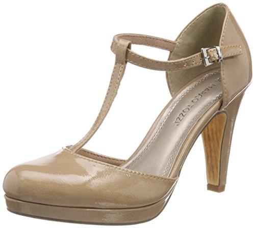 Marco Tozzi Damen 24416 T-Spangen Pumps, Pink (Candy Patent), 37 EU (Candy Schuhe Schuh)