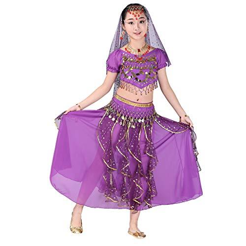 Bauchtanz Kostüm Set,Covermason Handgefertigt Kinder Mädchen Bauchtanz Kostüme Kinder Bauchtanz Indisches Ägypten Tanzen Kleider Karneval Cosplay ()