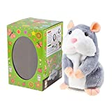 ToomLight Talking Hamster Plush Toy, Ripeti quello che dici Funny Kids Giocattoli farciti, Parlare a Record Peluche Giocattoli interattivi per, Regalo di compleanno Bambini Apprendimento precoce