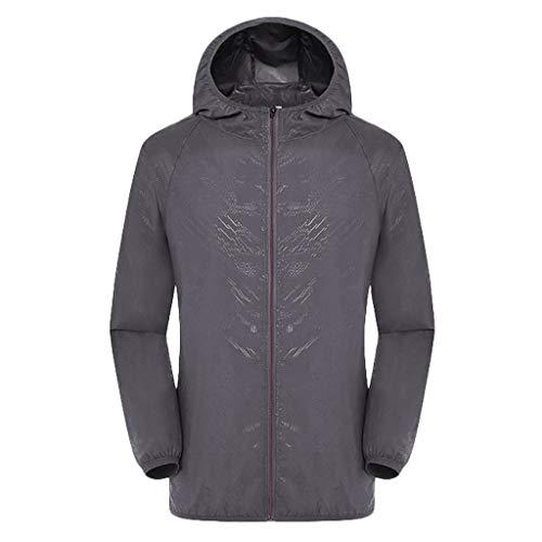 Dwevkeful Herren Jacke Quilt Leather Jacket Lederjacke Kapuzenjacke Sweatjacke Damen Freizeitjacken Winddicht Ultraleicht Regenfest Windbreaker Top -