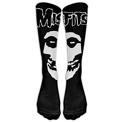Kostüm Band Misfits - ncnhdnh Unisex Misfits Band Logo Tube Socks Knee High Sports
