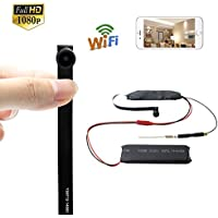 Mini Cámara Espía WIFI Oculta Spy Cam TANGMI 1920x1080P HD Cámara IP Inalámbrica Detección de Movimiento DV Videocámara 7/24 Horas Trabajando Android iPhone IOS Ángulo de Visión de 140 ° de Ancho