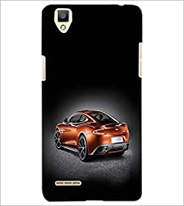 PrintDhaba Car D-2439 Back Case Cover for OPPO F1 (Multi-Coloured)