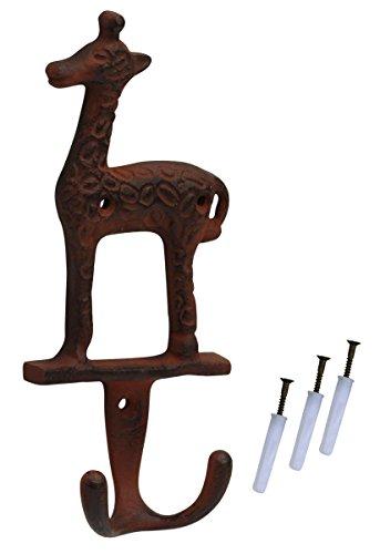 Montado en la pared SouvNear bebé jirafa doble gancho–de hierro fundido en...