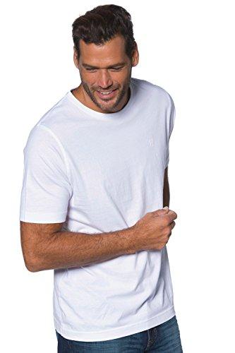 JP 1880 Große Größen Herren T-Shirt Rh Doppelpack Weiß (Weiss 20), XXXXX-Large -