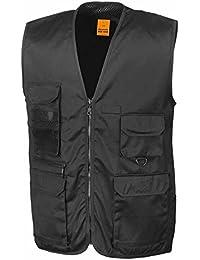 ResultWeste, mit mehreren Taschen, leichte Jacke ohne Ärmel, Bodywarmer, Ref.-Nr. R045X,Schwarz, Unisex, Damen/Herren