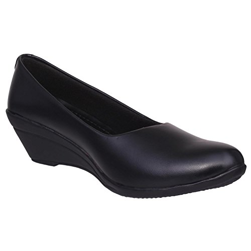 1 WALK COMFORTABLE WOMEN-BELLY /FANCY WEAR/PARTY WEAR/ORIGINAL/CASUAL FOOTWEAR--@Black