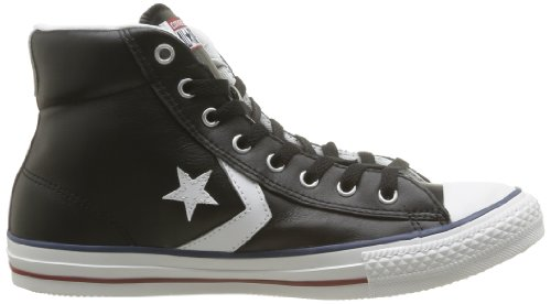 Converse Star Player Core Lea Hi, Baskets mode mixte adulte Noir (Noir/Blanc)